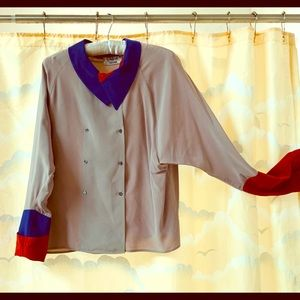 Awesome vintage color block Chloe blouse